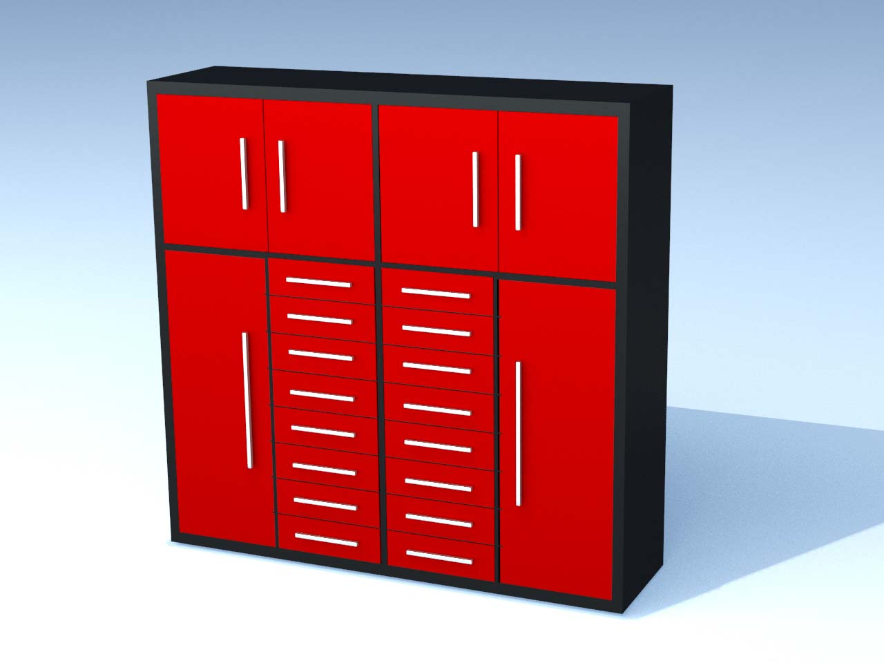 16 Drawer 86 Inch Red Tool Cabinet Uncle Wiener S Wholesale