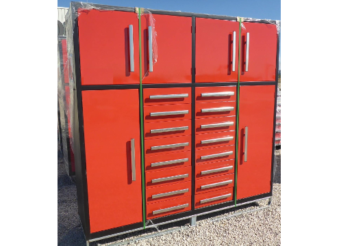 16 Drawer 86 Inch Red Tool Cabinet