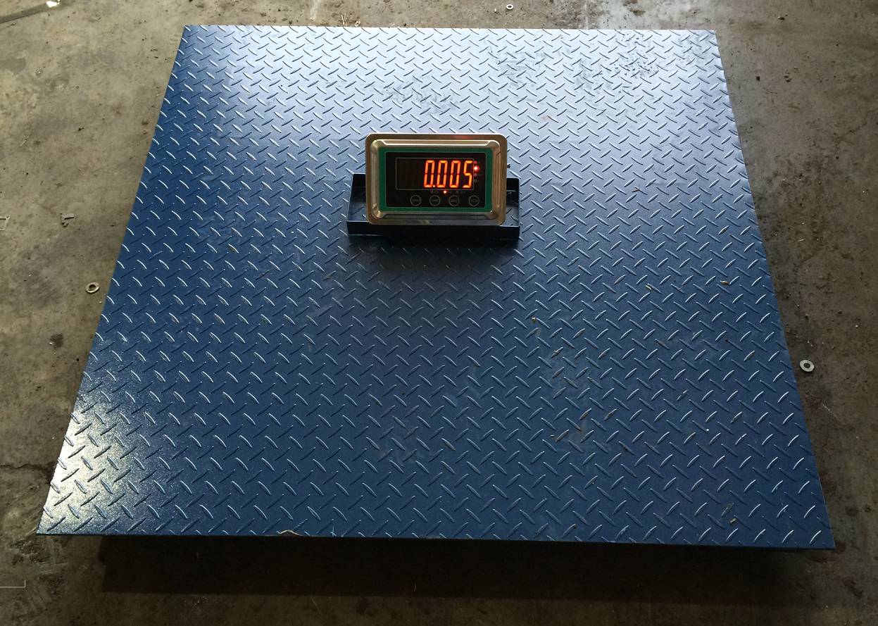 4x4 floor scale digital 10 000 lbs wireless pallet scale for Scale floor