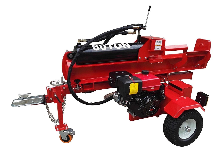 Wood Splitter For Sale >> 60 Ton Hydraulic Gas Electric Start 15 Hp Gas Portable Log Splitter