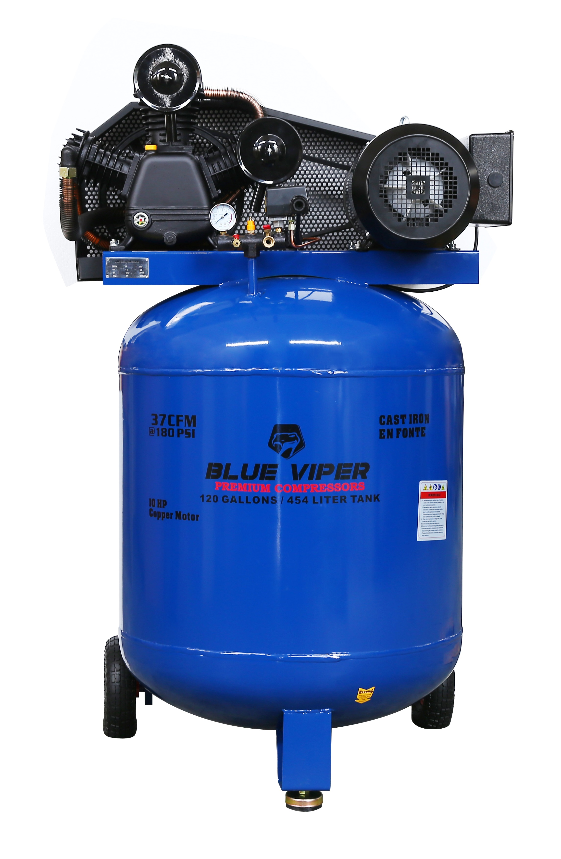 Blue Viper 10 Hp 220v 1ph Shop Air Compressor Vertical