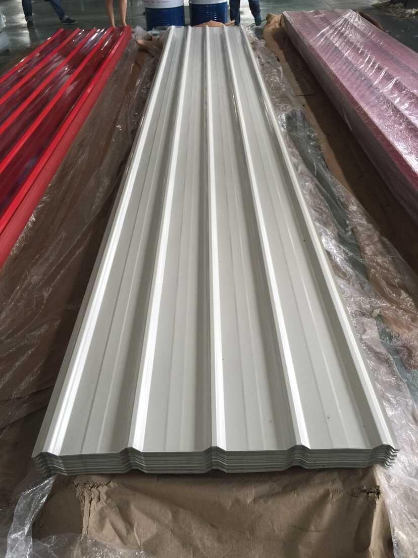 New 29 Ga White Light Gray Steel Siding Sheet 18 Ft 16