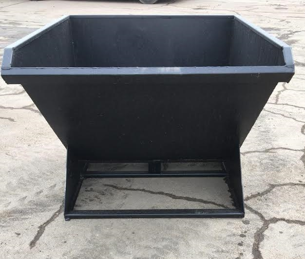SELF DUMPING HOPPER BIN FOR SCRAP GARBAGE 1 CY / 1 5 CY / 2