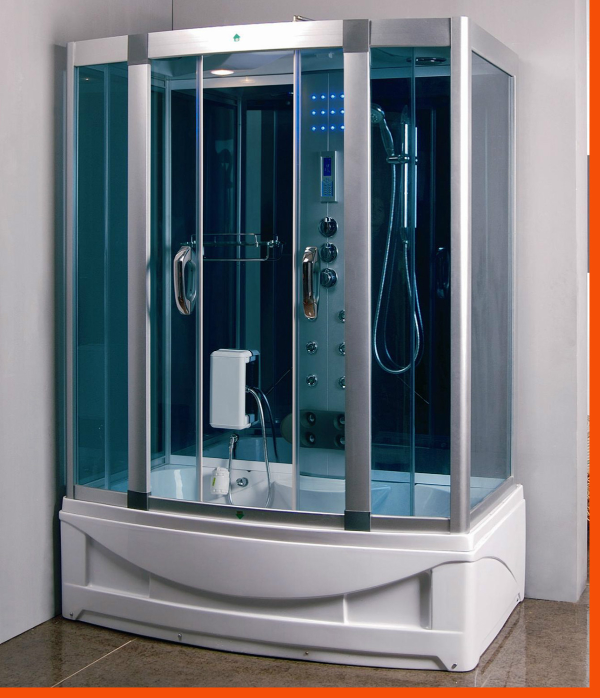 Bath And Shower Units Whirlpool Tub Jacuzzi Steam Shower Bath Led Multi Function