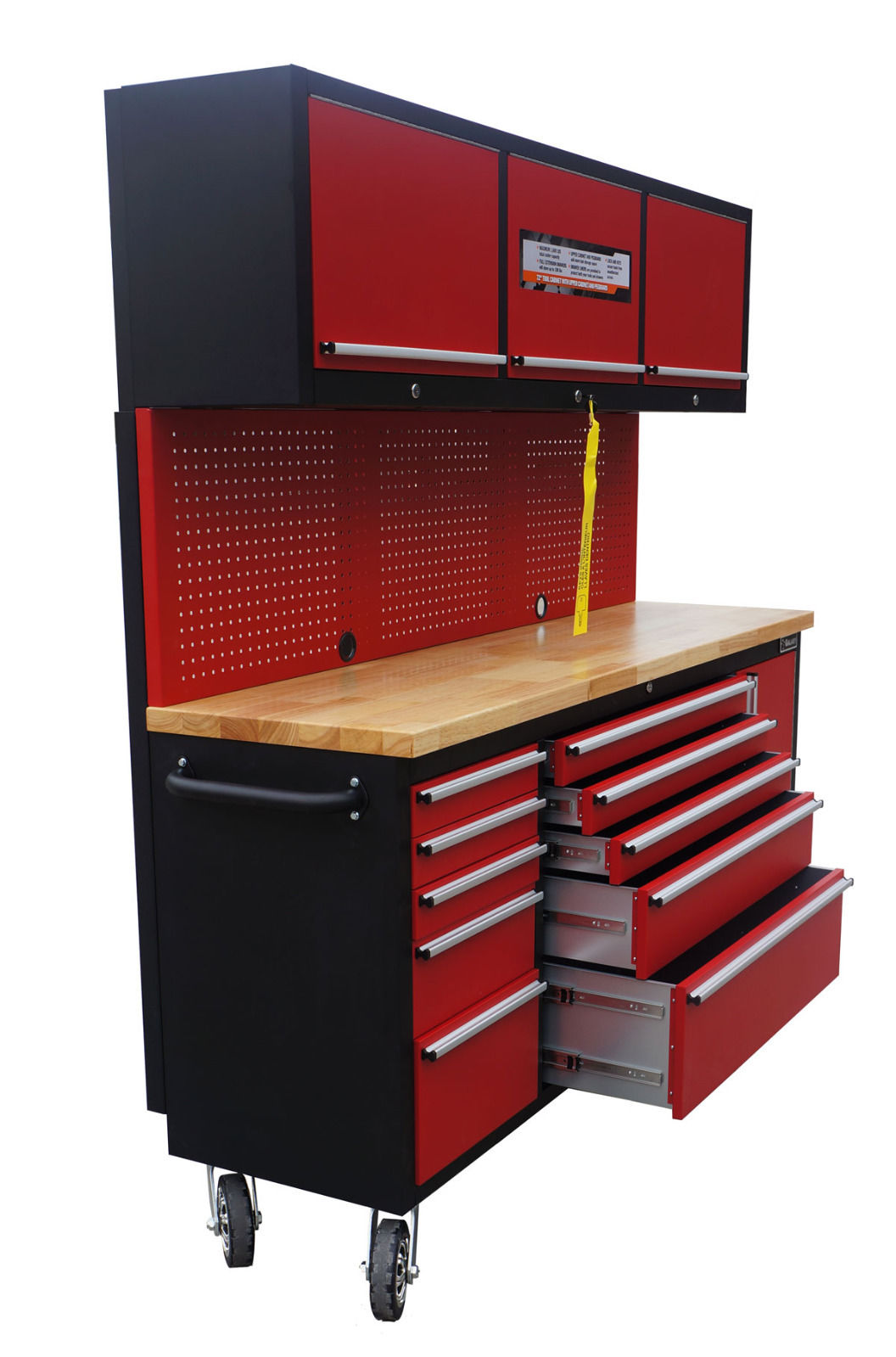 New Red 17 Drawer Tool Bench Cabinet Ga7210rt Uncle