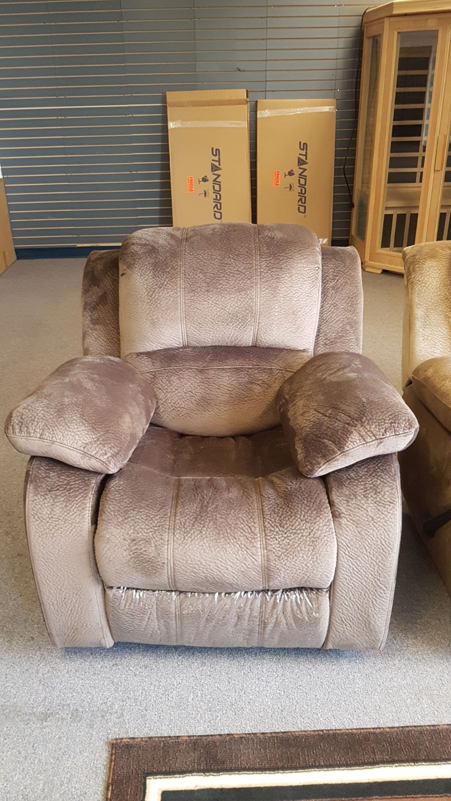 Rocking recliner furniture living room chair microfiber for Microfiber living room furniture