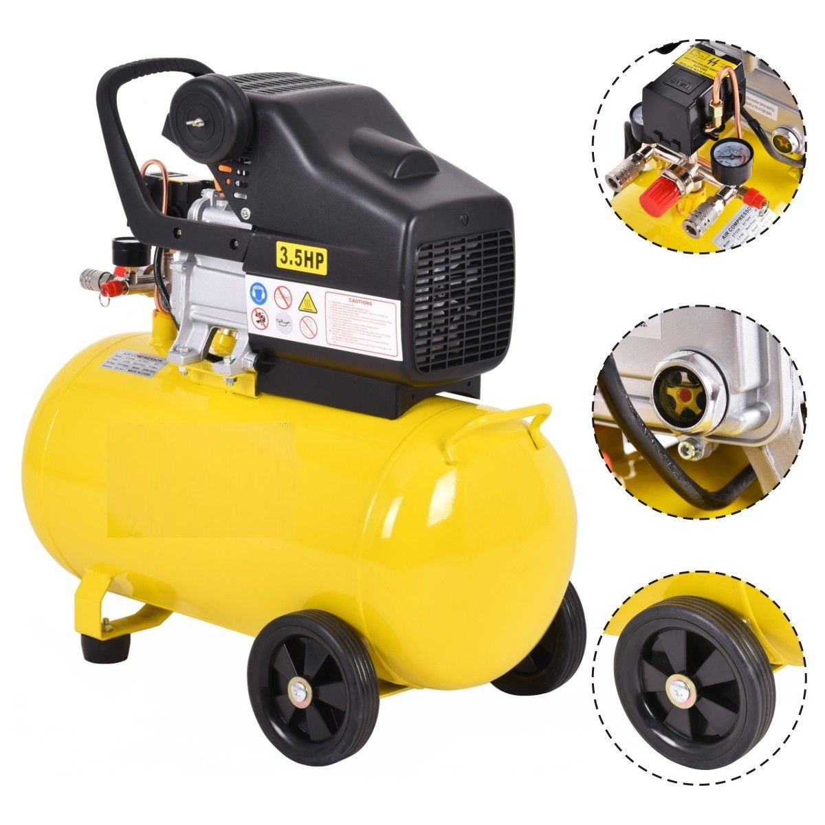 Heavy duty 3 5 hp 110v 10 gallon air compressor adjustable for 3 hp air compressor motor
