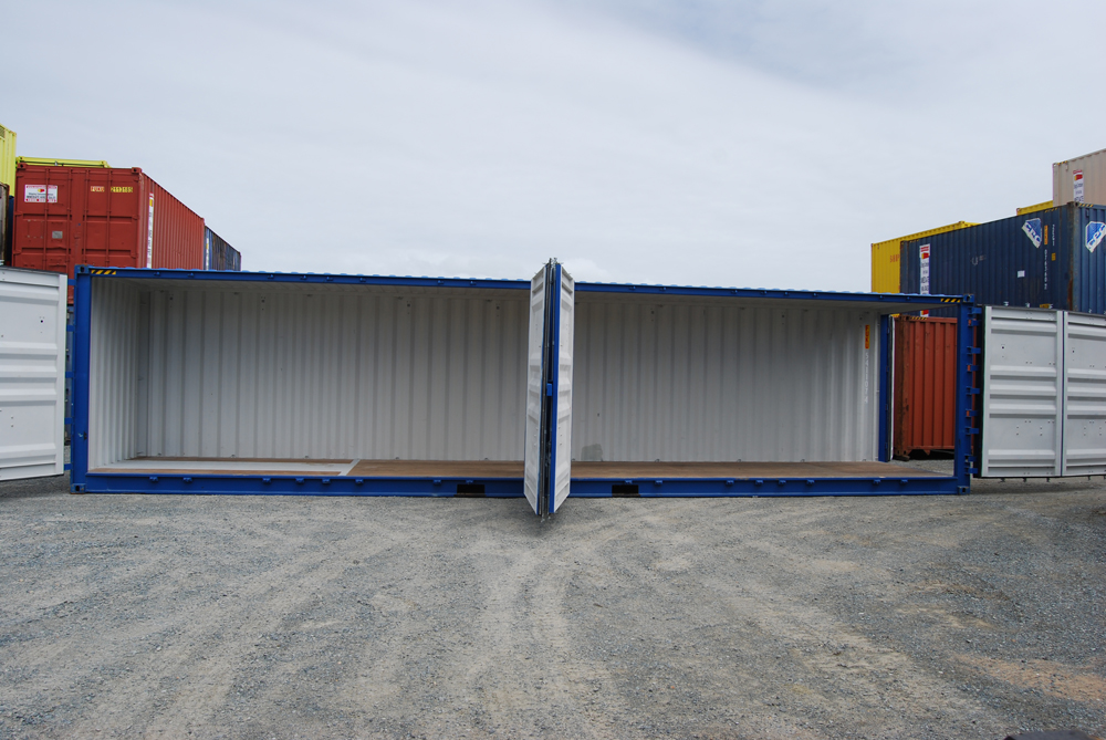 One time 40 ft 3 door open side container uncle wiener 39 s for 3 40 ft container home