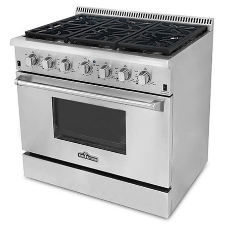 NEW THOR NATURAL GAS PROPANE 36u2033 STAINLESS STEEL OVEN RANGE ...