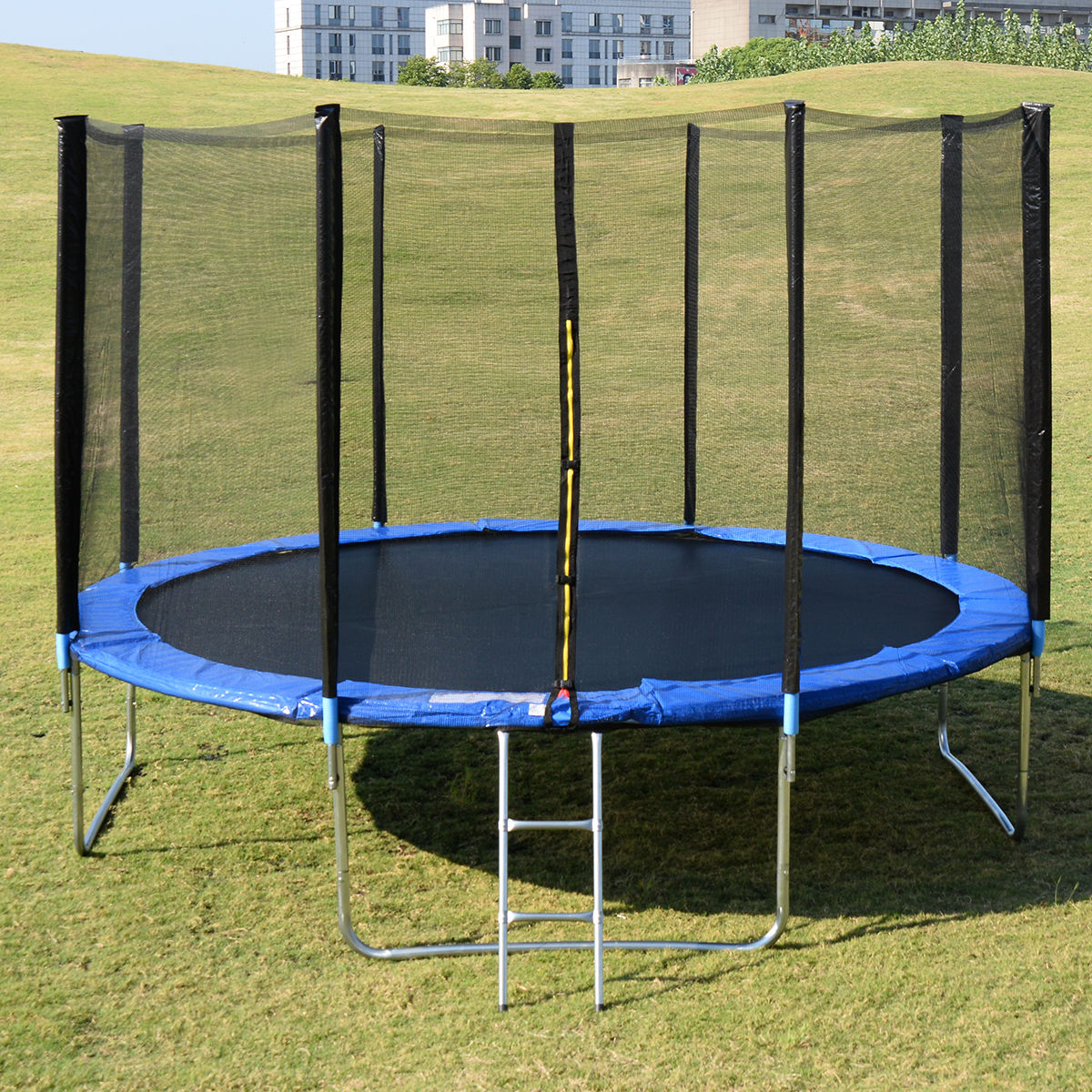 New 14ft Trampoline Combo Bounce Jump Safety Enclosure Net: NEW HEAVY DUTY TRAMPOLINE 14 FT WITH LADDER & SAFETY NET