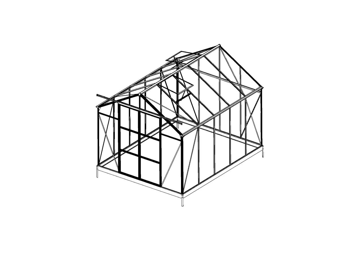 NEW 8 X 10 FT & 8 X 16 FT POLYCARBONATE GREEN HOUSE GREENHOUSE GH810