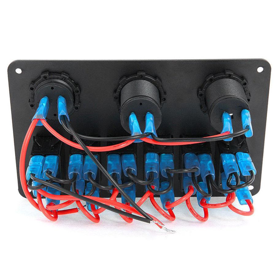 New 6 Amp 8 Gang Led Car Rocker Switch 2 Usb Sp019 Uncle