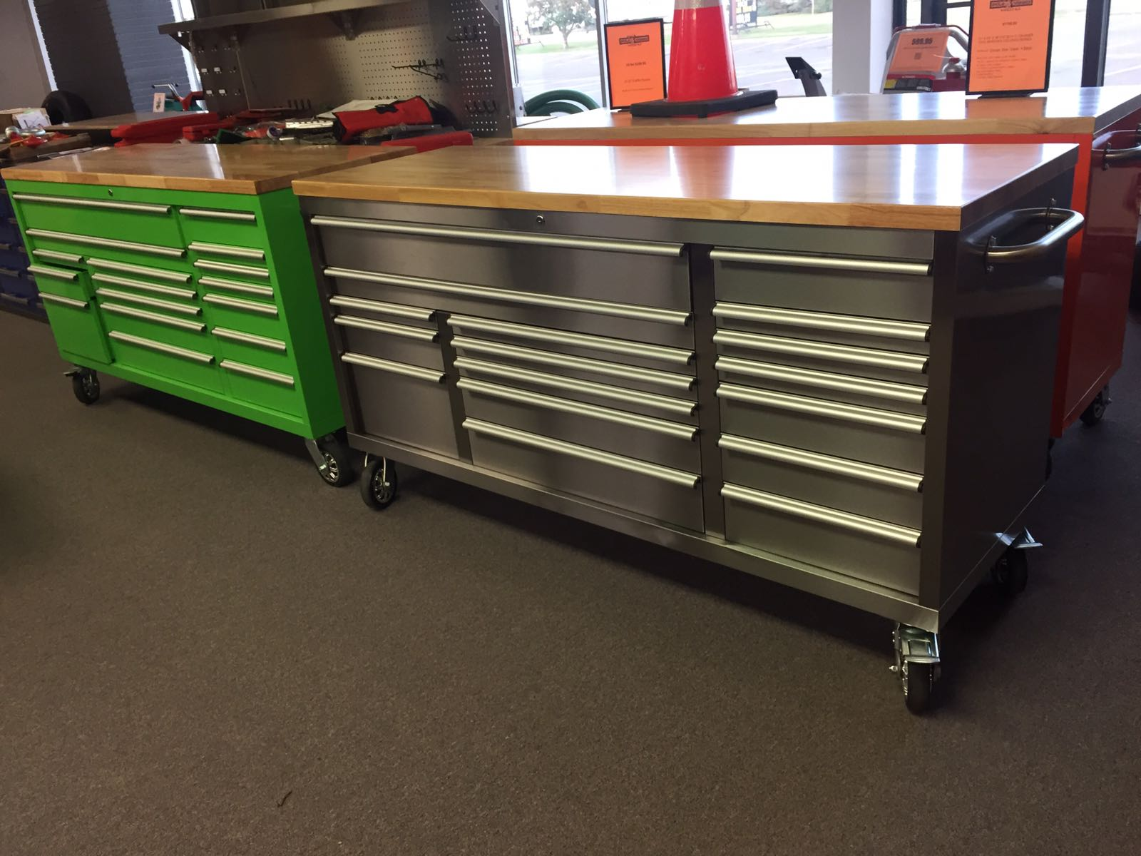 72 X 24 X 39 Fat Boy 17 Drawer Tool Benches Stainless