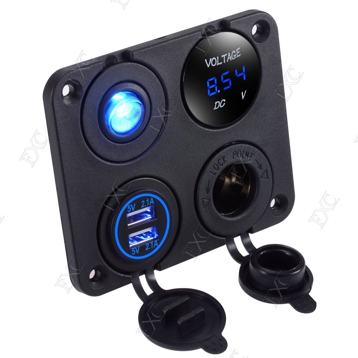 1 15 new 12v voltmeter usb lighter socket switch ght31 uncle wiener's  at creativeand.co