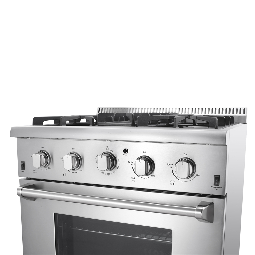 """new thor natural gas propane 30"""" stainless steel oven range"""