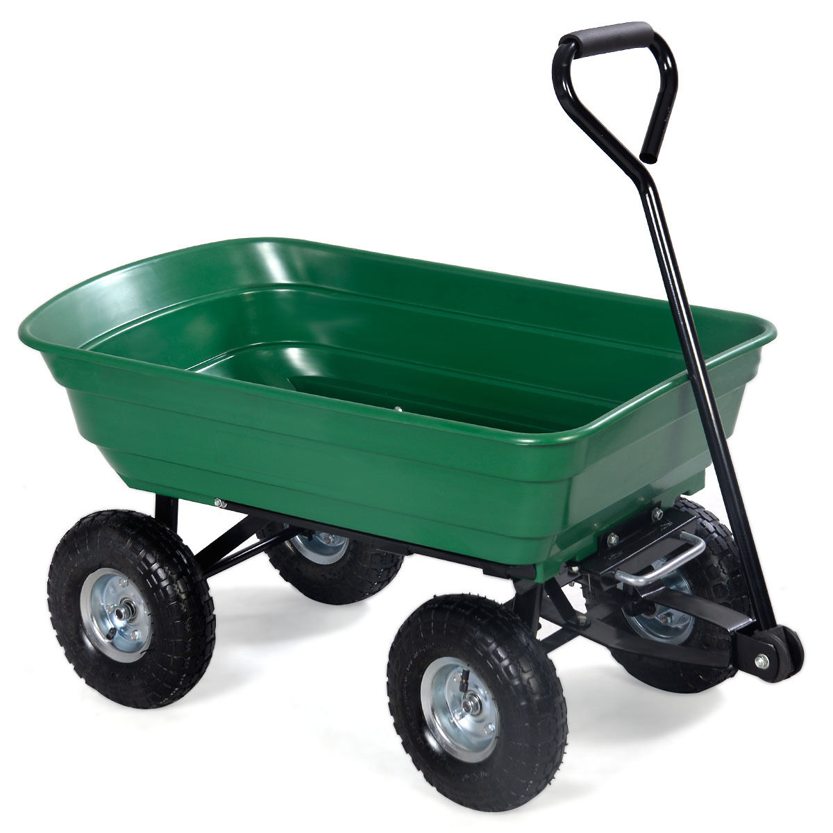 New 650 Lbs Garden Dump Cart Wagon Wheel Barrow Tc2145s