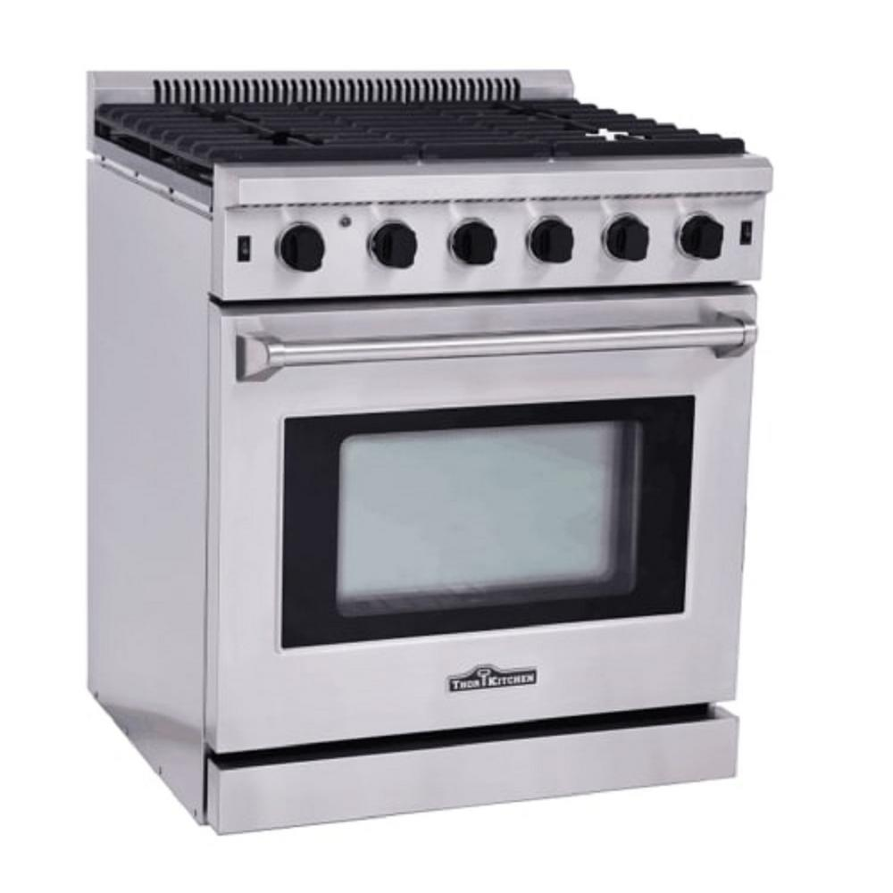 NEW THOR NATURAL GAS PROPANE 30u2033 STAINLESS STEEL OVEN RANGE STOVE LRG3001U