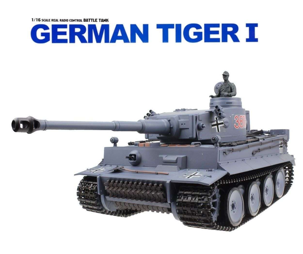 NEW GERMAN 1:16 RC HEAVY BATTLE TANK AIRSOFT REMOTE CONTROL TANK