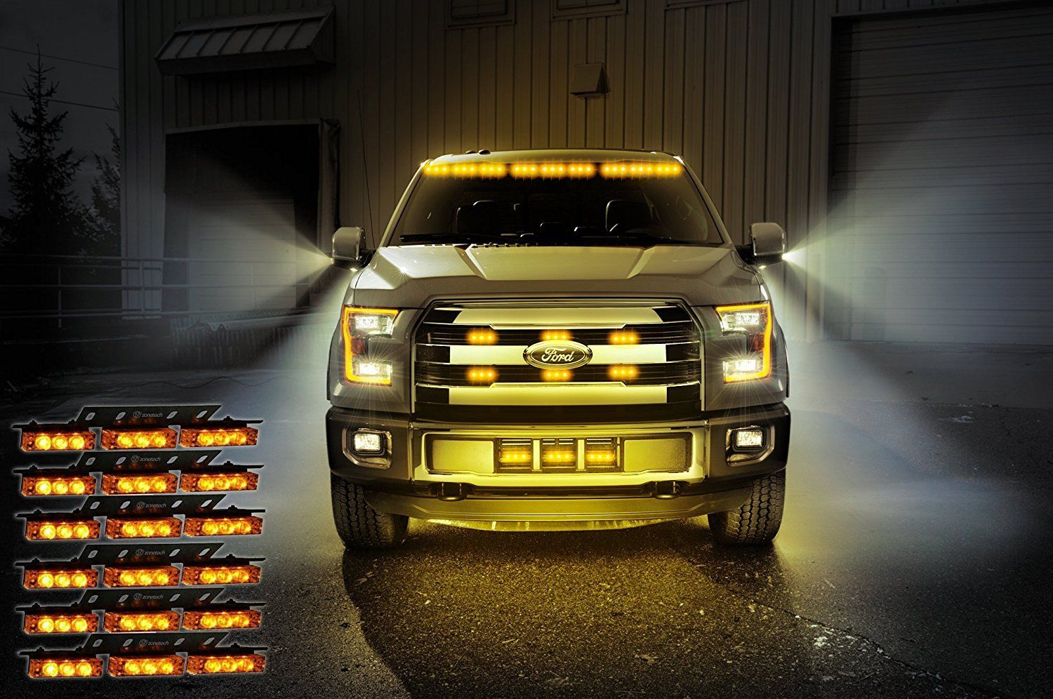 New 54 Strobe Led Light 12v Grill Emergency Lights 54str