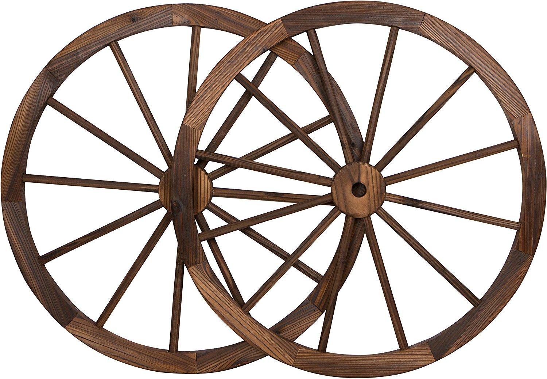 Wooden Wagon Wheels ~ New wooden wagon wheels bench whiskey barrel planters
