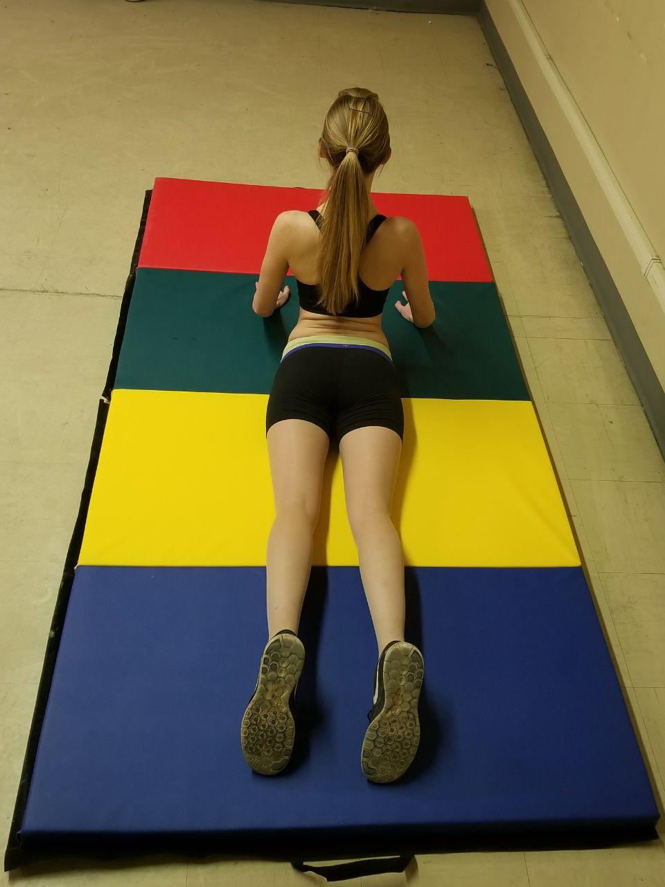 New 8 Ft X 4 Ft X 2 In Folding Yoga Mat Gym Mat Ymr4