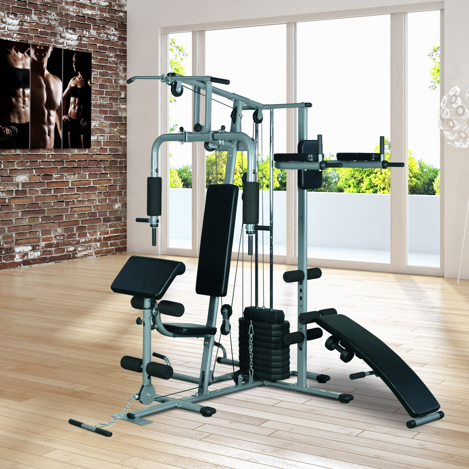 New home gym deluxe fitness exercise machine weight mhg
