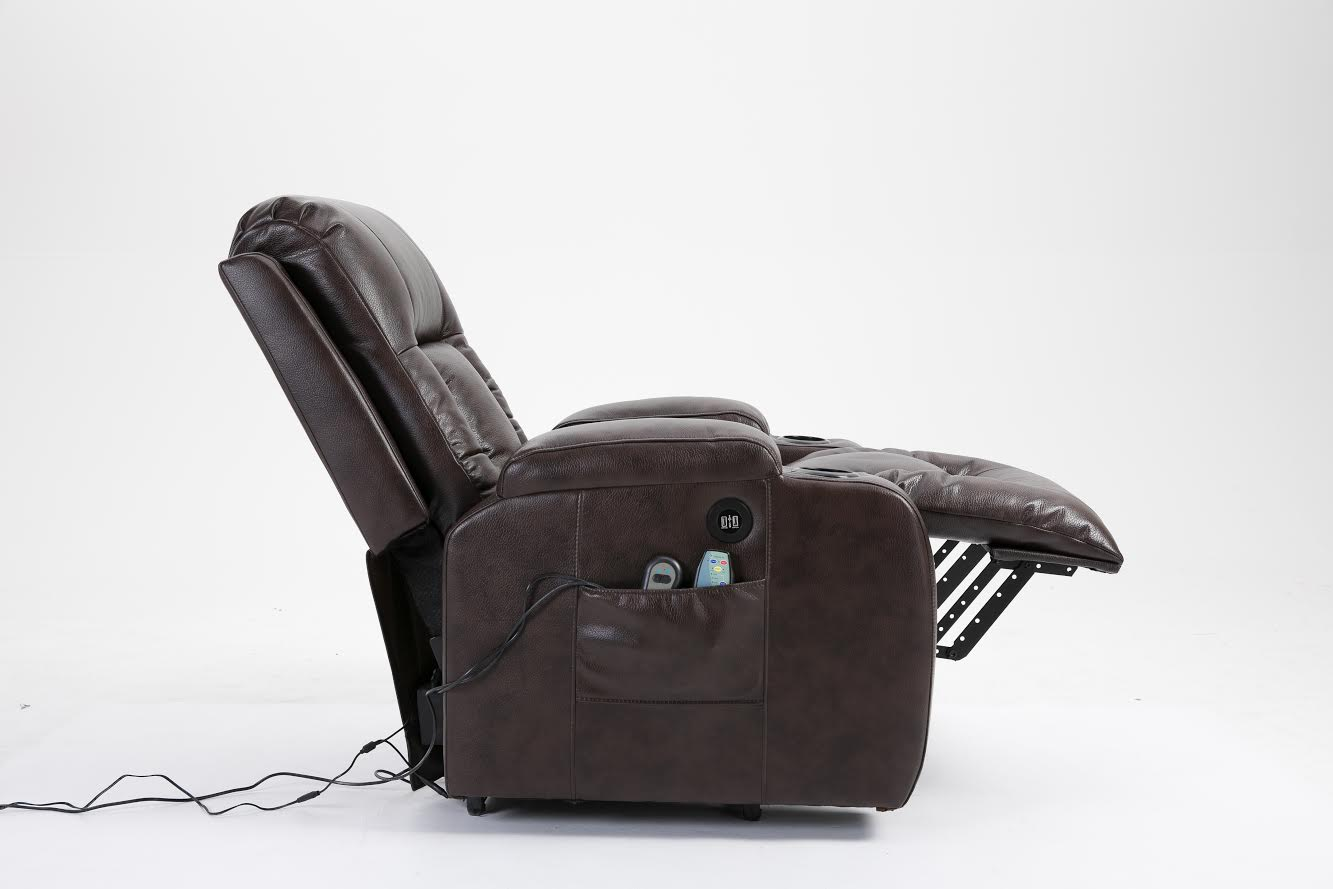New Air Leather Power Lift Recliner Massage Chair Heated