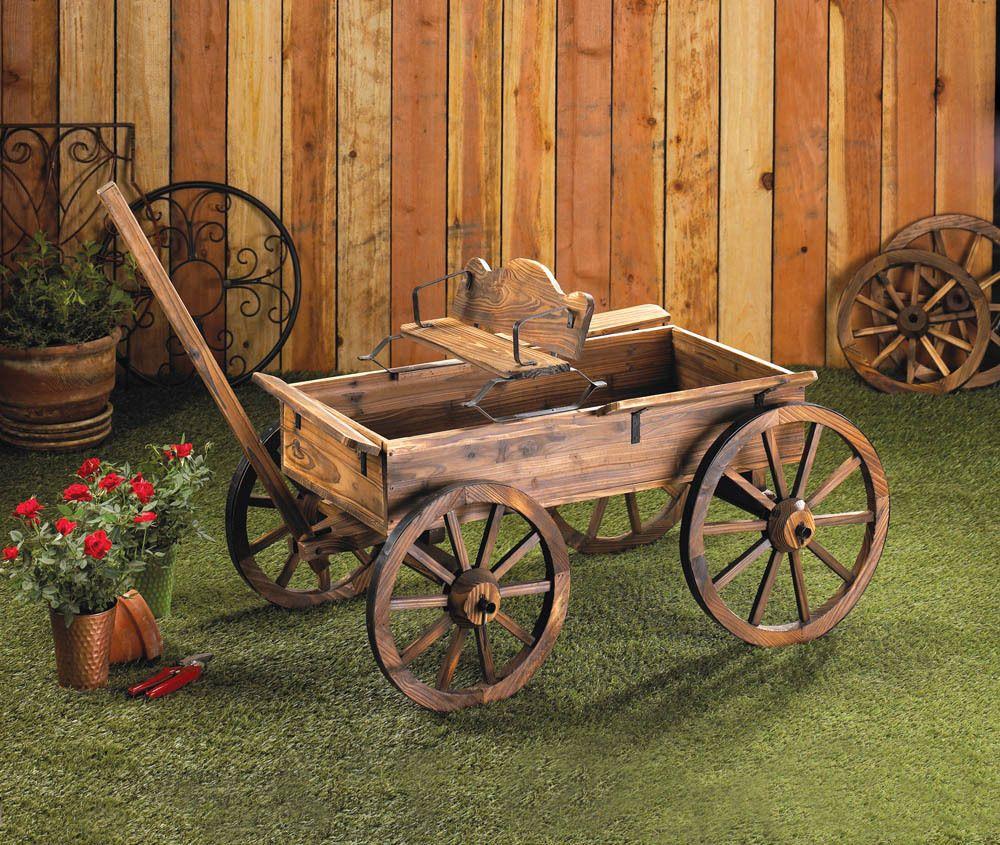 New Garden Rustic Garden Wagon Planter Wwp36