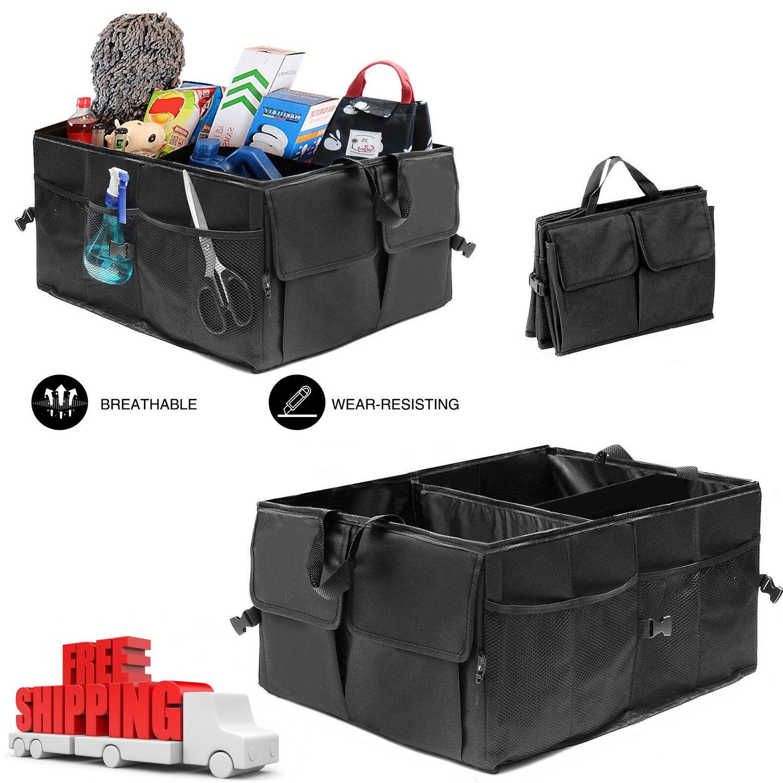 Suv Cargo Organizer >> NEW CAR & TRUCK ORGANIZER FOLDABLE STORAGE BOX COLLASIBLE BAG SUV HS004 - Uncle Wiener's Wholesale
