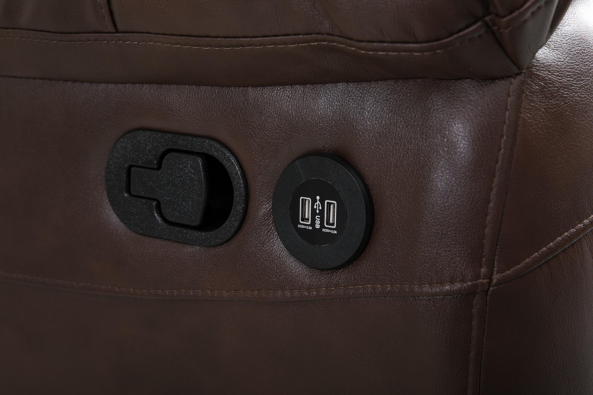 1087096944 NEW 3 PCS AIR LEATHER & MICROFIBER SOFA SET DOUBLE ROCKER SET W/ POWER  MASSAGE