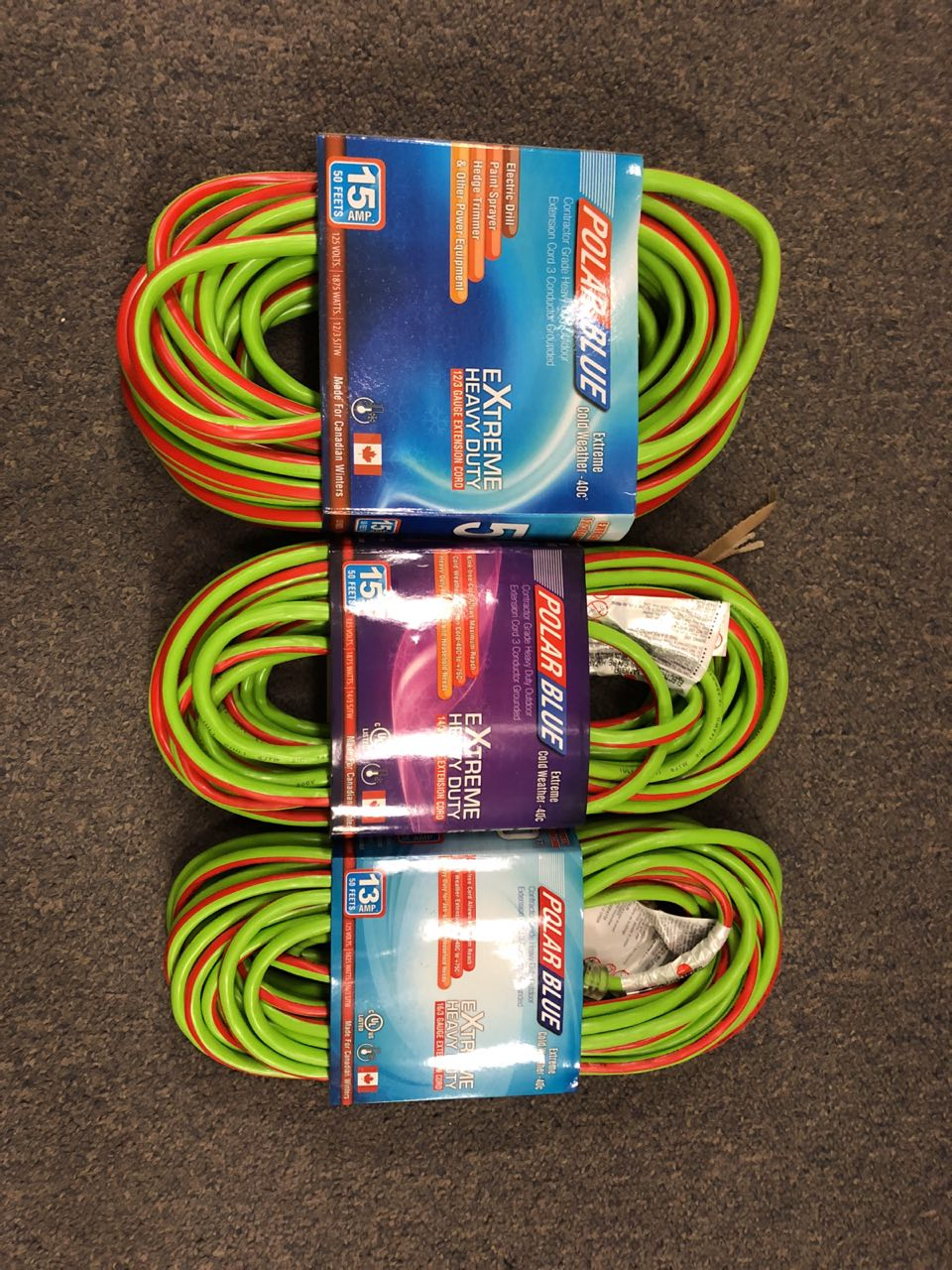 New Polar Blue Extension Cords Cold Weather Extension Cord