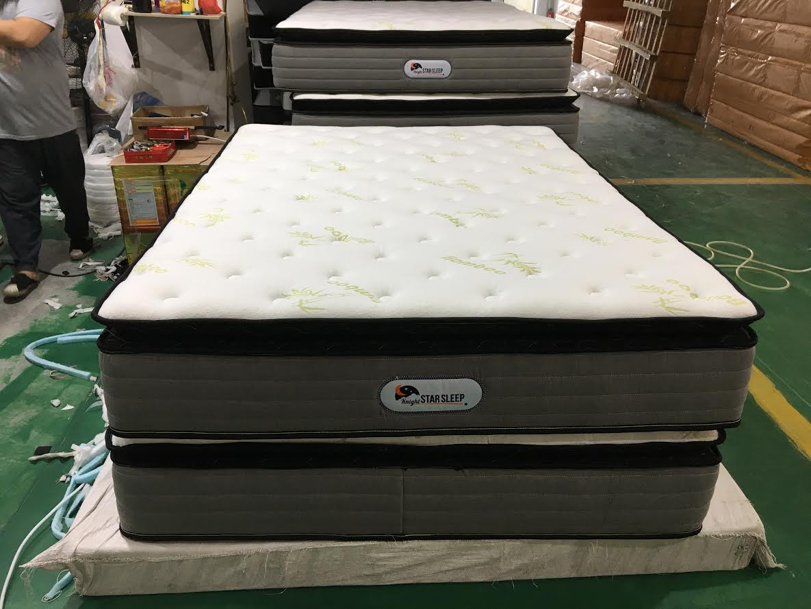 New 12 Quot Night Star Sleep 174 Bamboo Pillow Top Pocket Coil Mattress Uncle Wiener S Wholesale