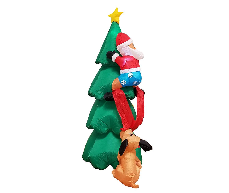 NEW 6 FT INFLATABLE SANTA DOG CHASING CHRISTMAS 6FTDCS - Uncle ...