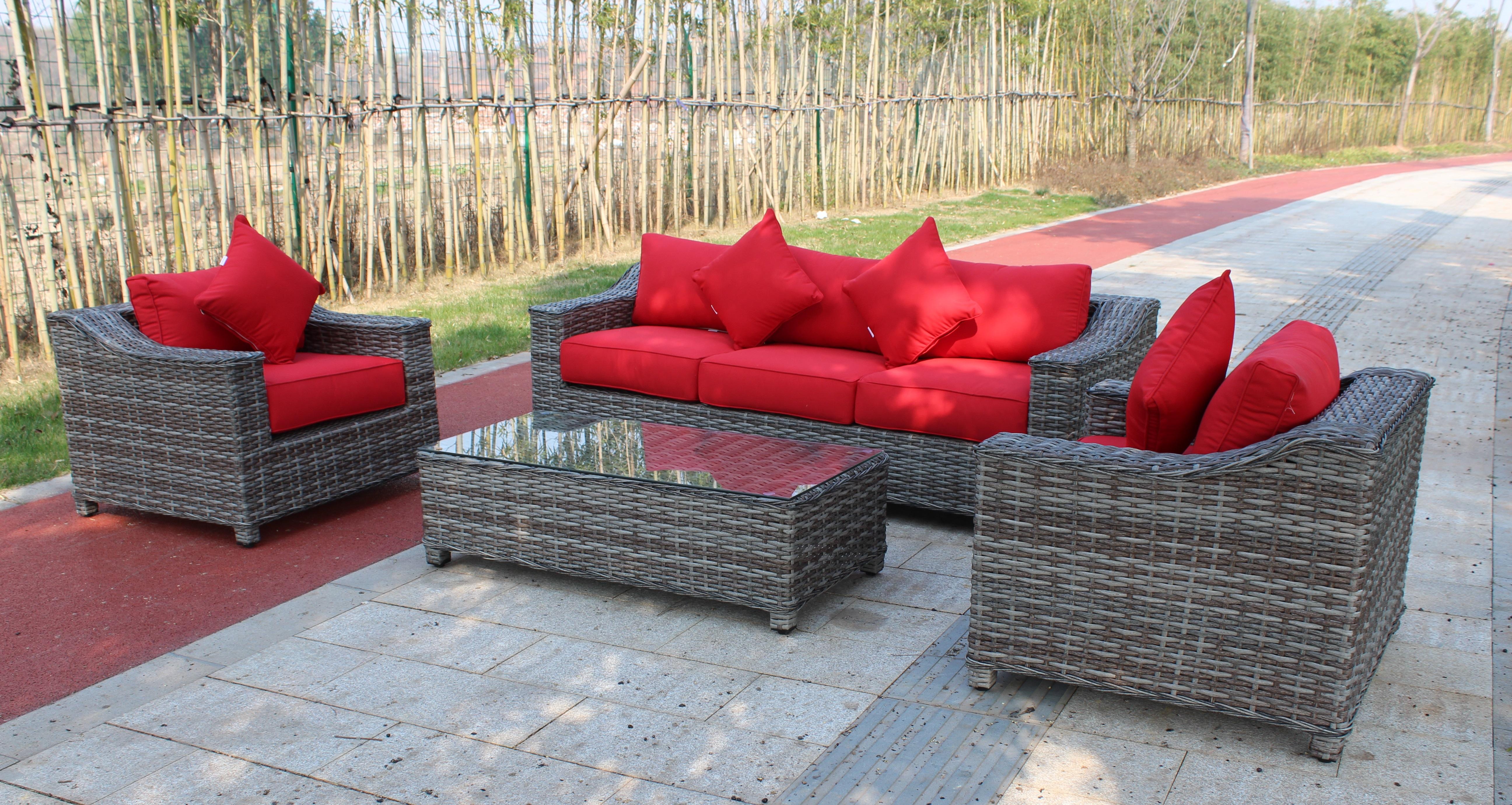 New sunlounger 4 pcs outdoor furniture set sunbrella fabric