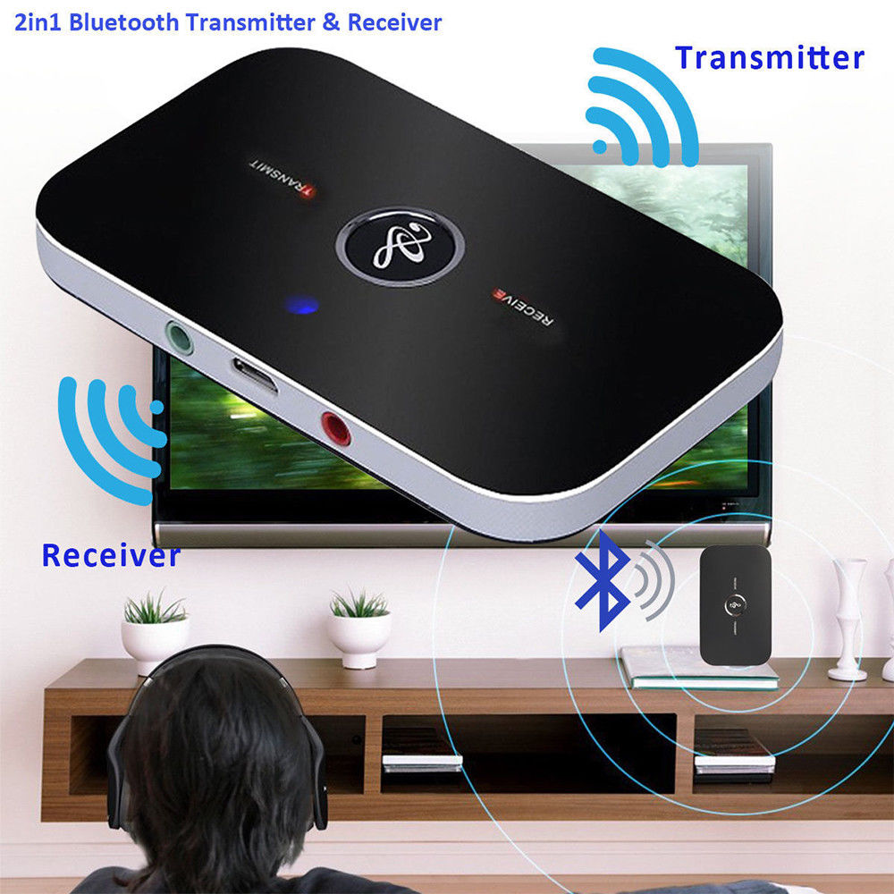 NEW WIRELESS BLUETOOTH TRANSMITTER RECIEVER MUSIC 2 IN 1