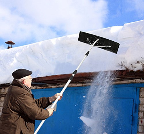 New Snow Twist N Lock Snow Shovel Roof Rake 6 Inch Blade