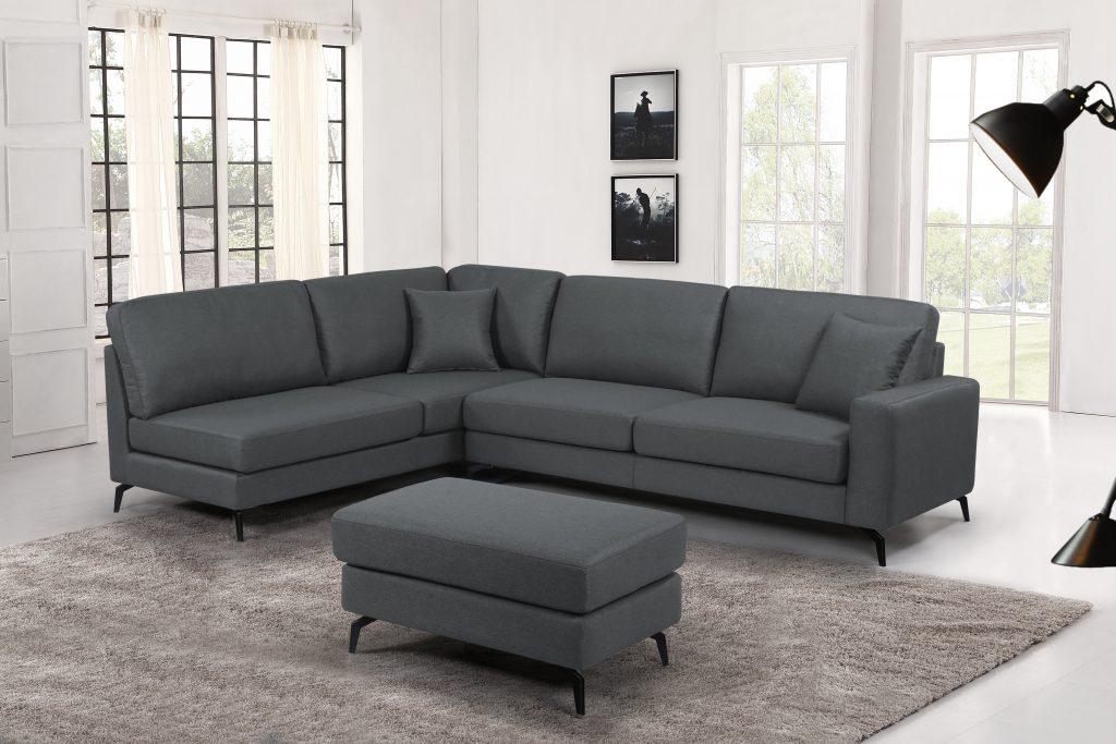 New Tewah 2 Pcs Fabric Corner Sofa Sectional Tws092