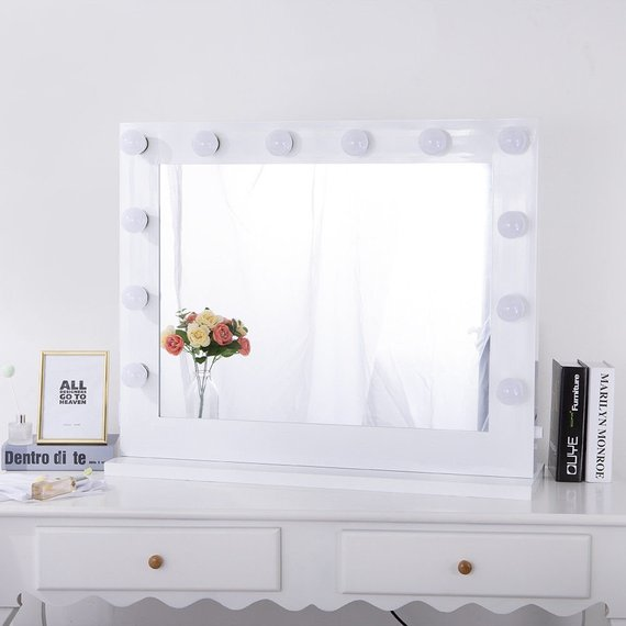 New Vanity Table Top Hollywood Mounted Makeup Mirror