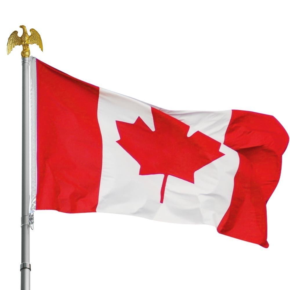 New 3 Ft X 5 Ft Canada Flag Polyester Maple Leaf Cf35 Uncle Wiener S Wholesale