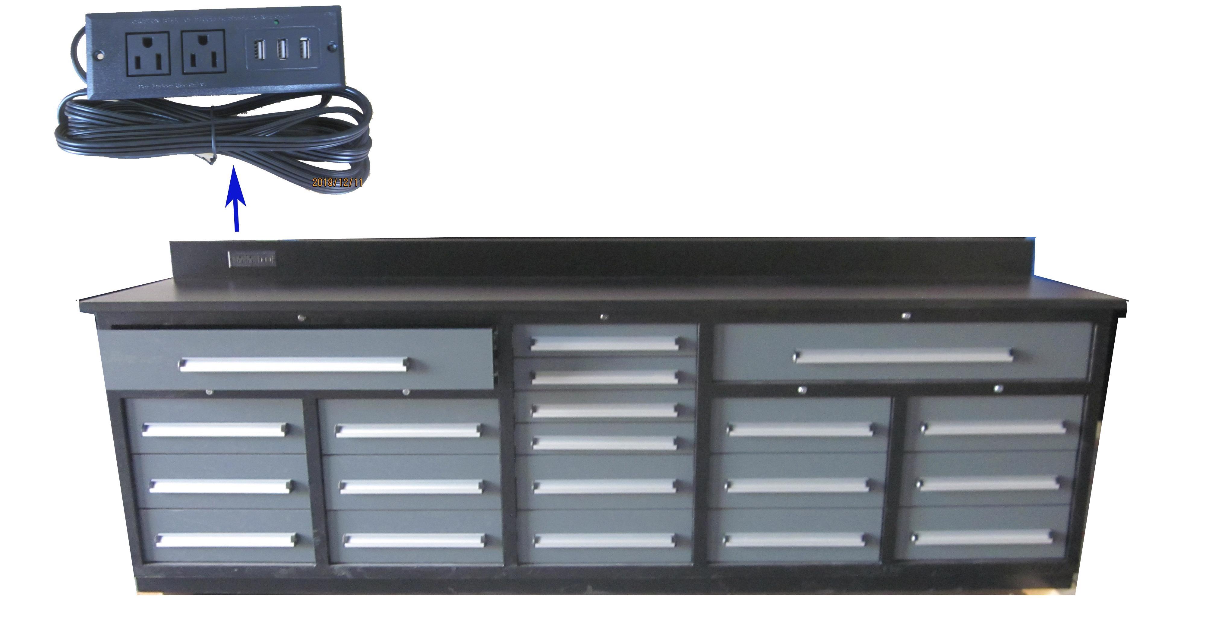 New Premium 20 Drawer Tool Bench 10 Ft Cabinet Amp Usb Power