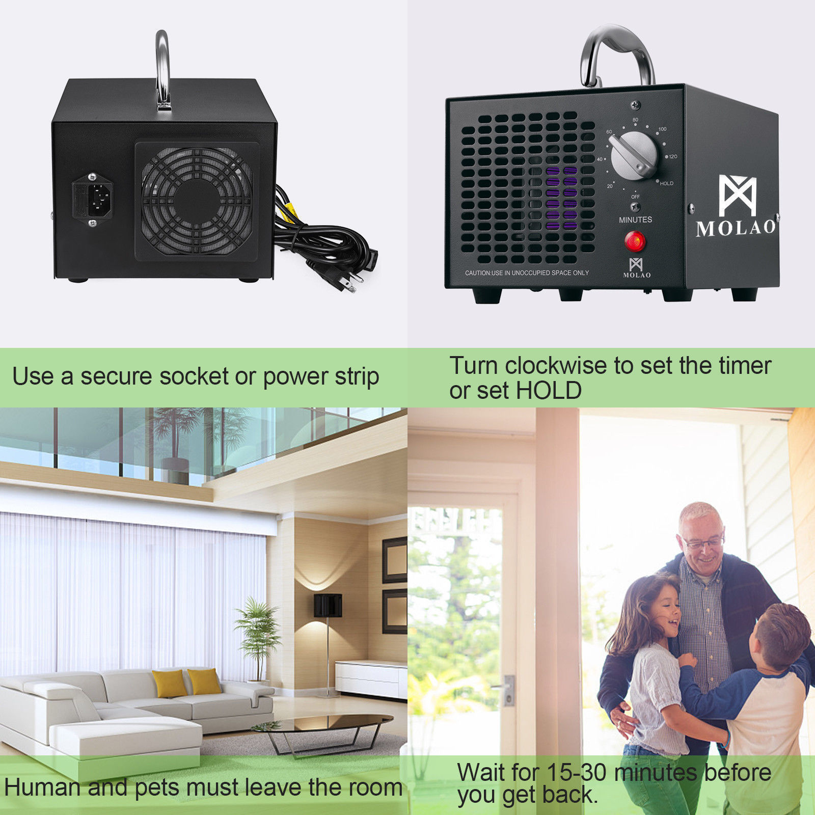 NEW COMMERCIAL OZONE GENERATOR AIR PURIFIER SMOKE MOLD MILDEW ST5G