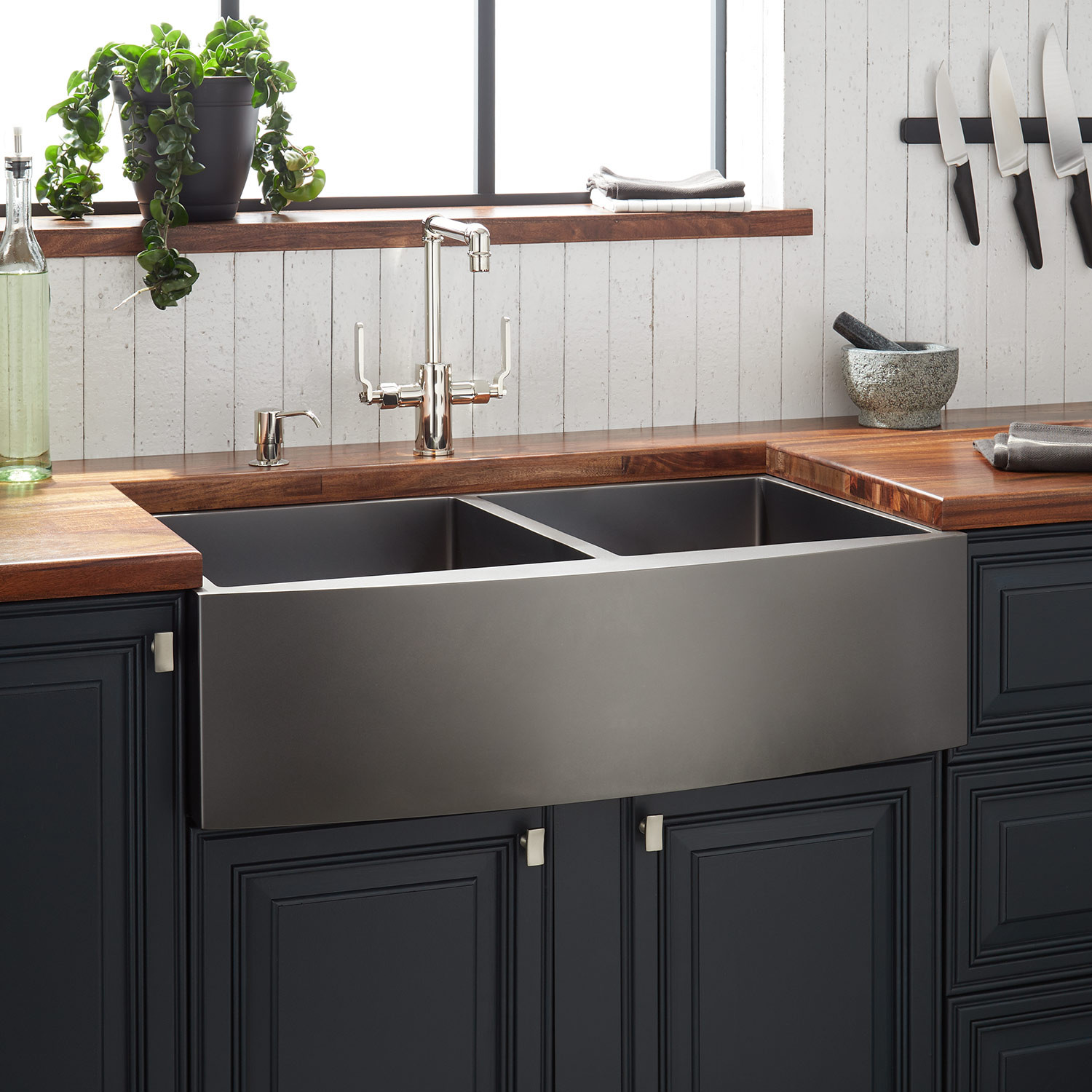 New 33 In Double Bowl Kitchen Sink Farmhouse Apron App3320