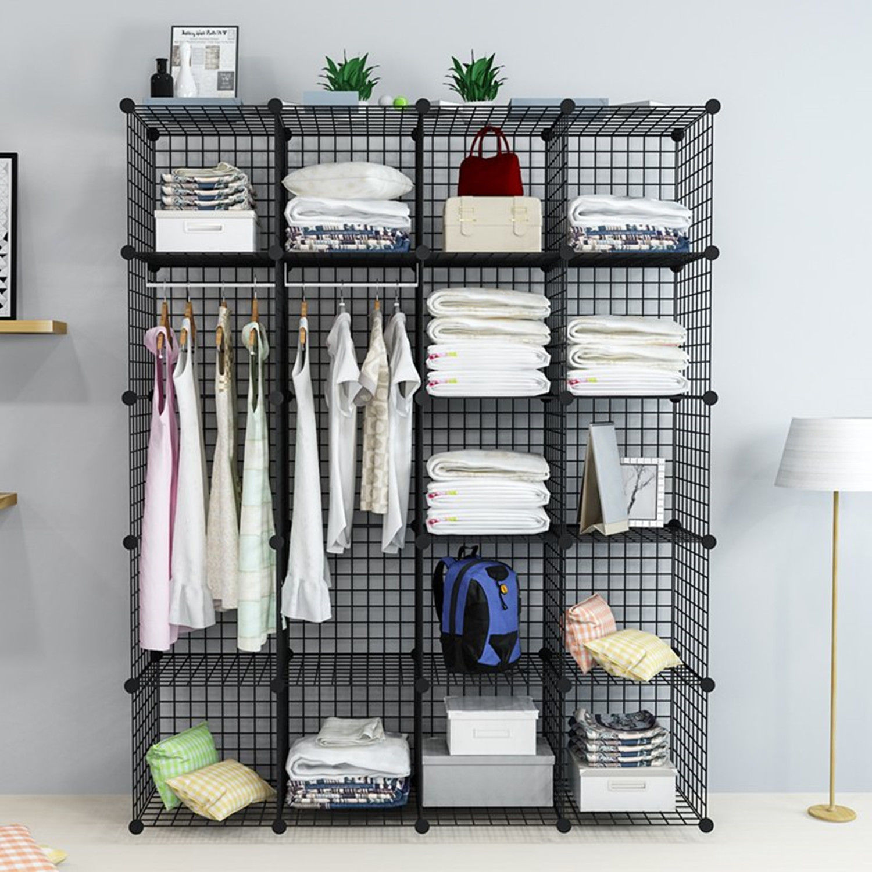 Do It Yourself Home Design: NEW 20 CUBE WIRE GRID ORGANIZER BOOKCASE STORAGE CABINET