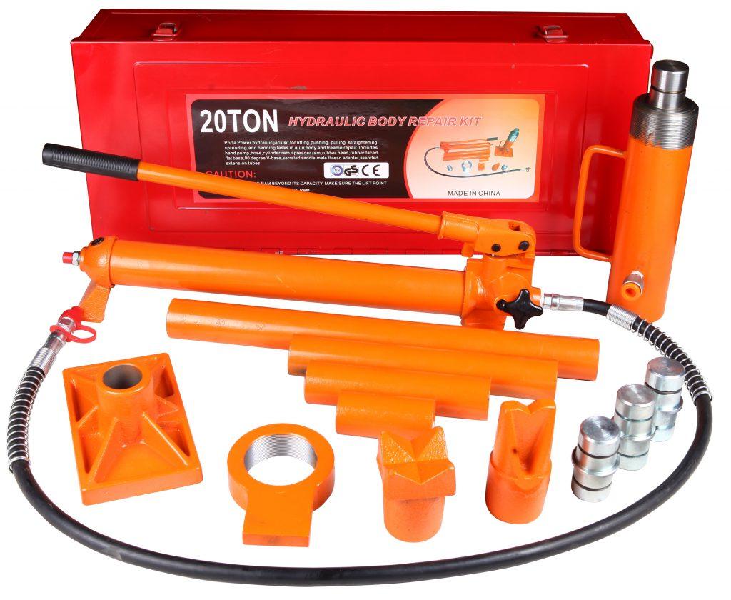 New 20 Ton Porta Power Jack Kit Hydraulic Jack Body Frame