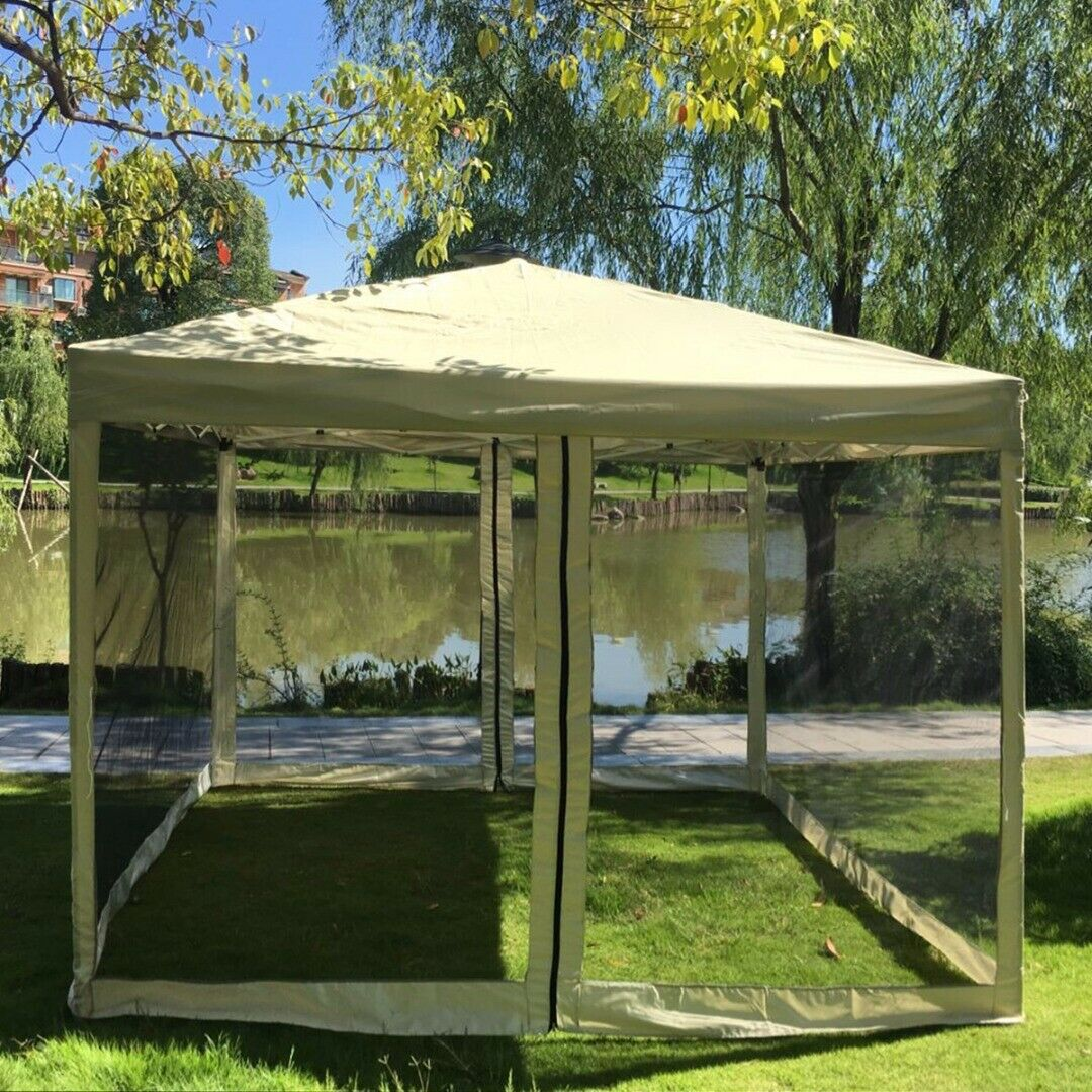 New 10x10 Pop Up Tent Amp Bug Screen Gazebo Party Tent