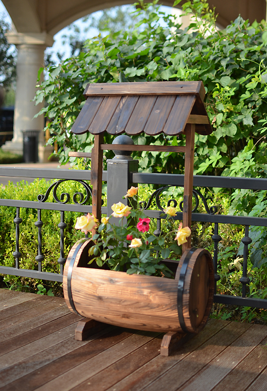 New Garden Barrel Wishing Well Planter Wwp46 Uncle Wiener S Wholesale