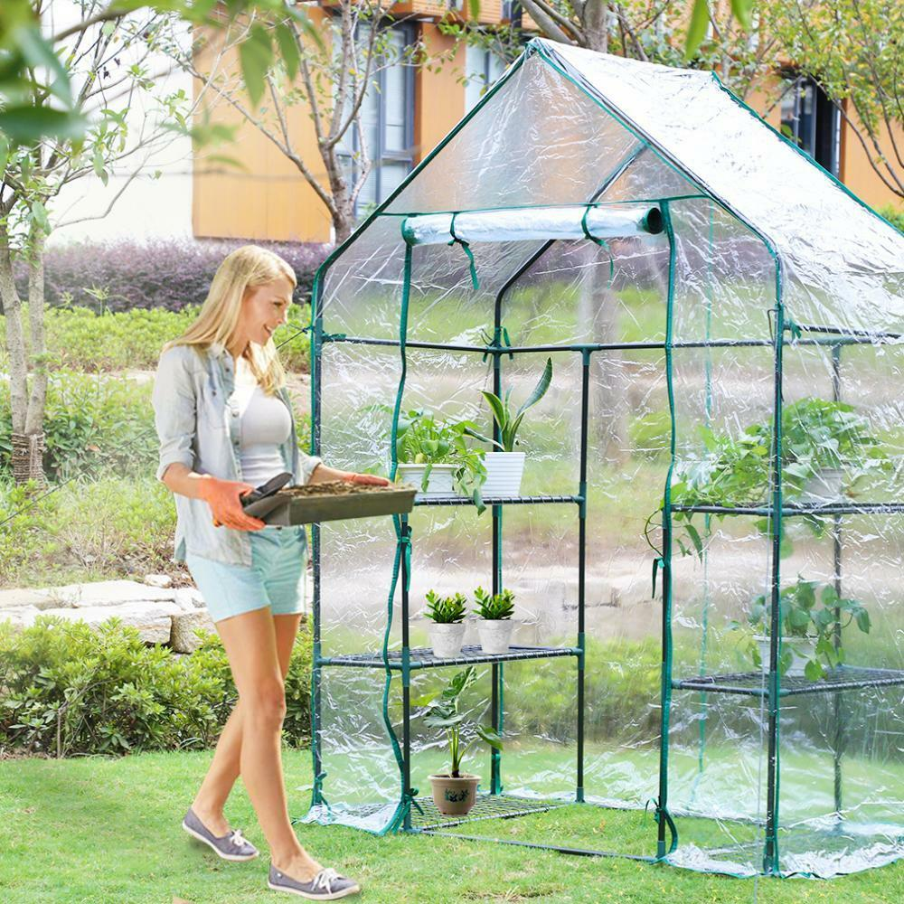 NEW PORTABLE GREENHOUSE OUTDOOR PLANTER WALK IN GREENHOUSE ...