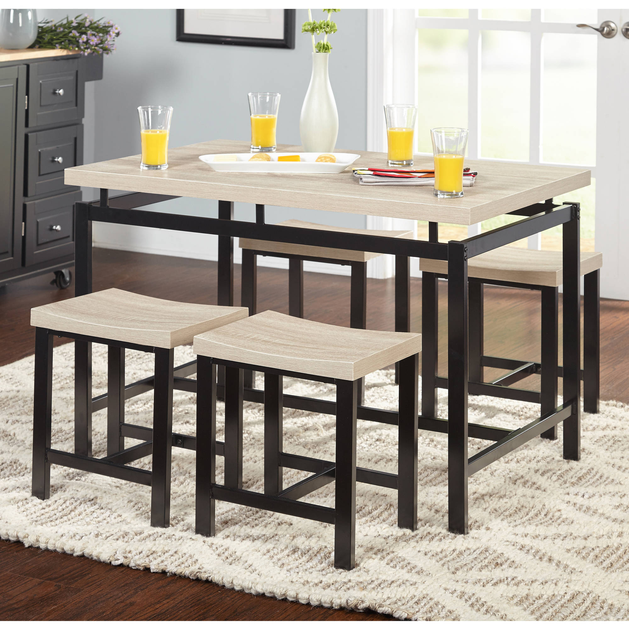 New 5 Pcs Counter Height Table Set Kitchen Bar Cd002 Uncle Wiener S Wholesale