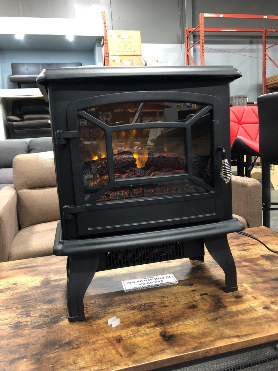 New Electric Fireplace Heater Stove Flame 1500 Watt Tyfp51