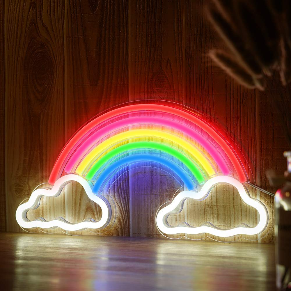 NEW RAINBOW NEON SIGN LED WALL ART WN12 - Uncle Wiener's ...